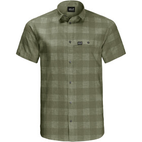 Jack Wolfskin Highlands SS Shirt Men light moss checks